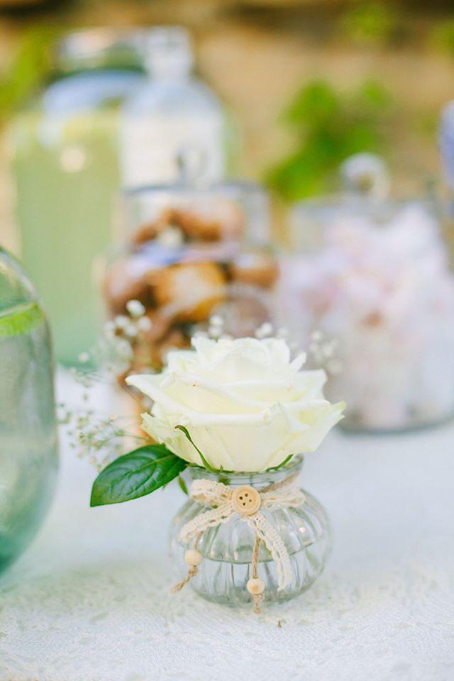 bouteille de centre de table mariage  fleur par nature montpellier