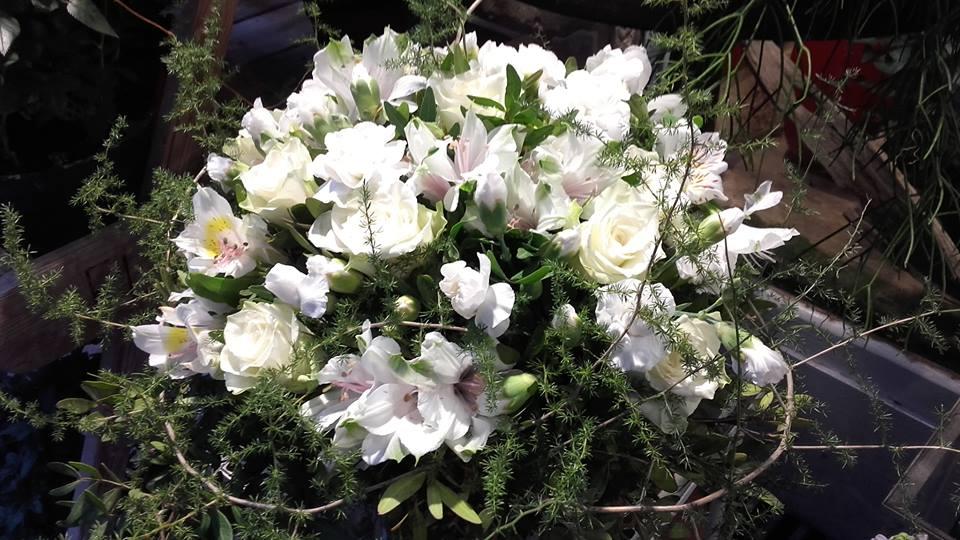 bouquet blanc deuil fleur par nature montpellier