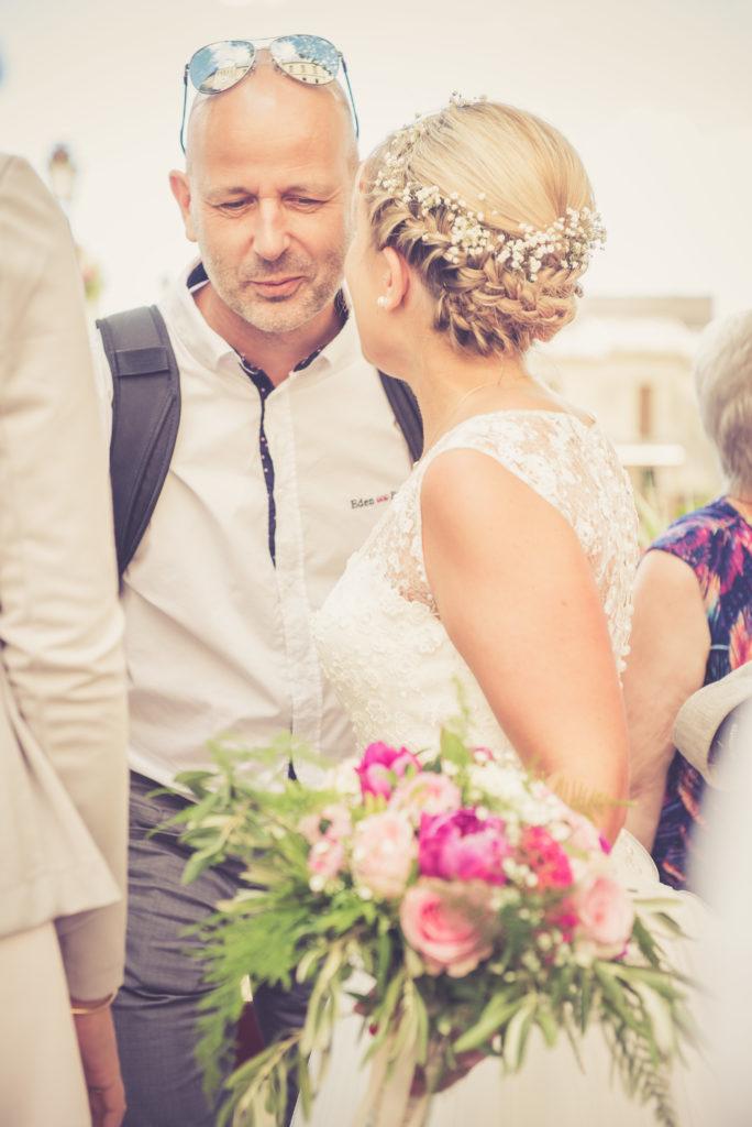 bouquet de mariée prune blanc montpellier