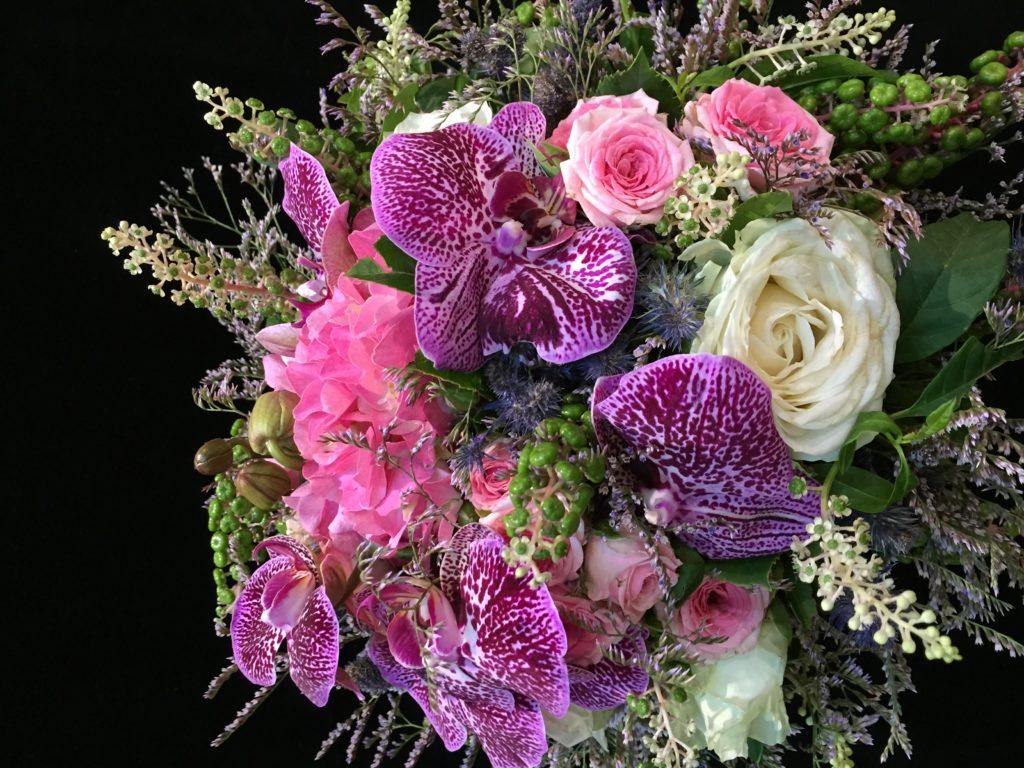 bouquet mauve deuil fleur par nature montpellier