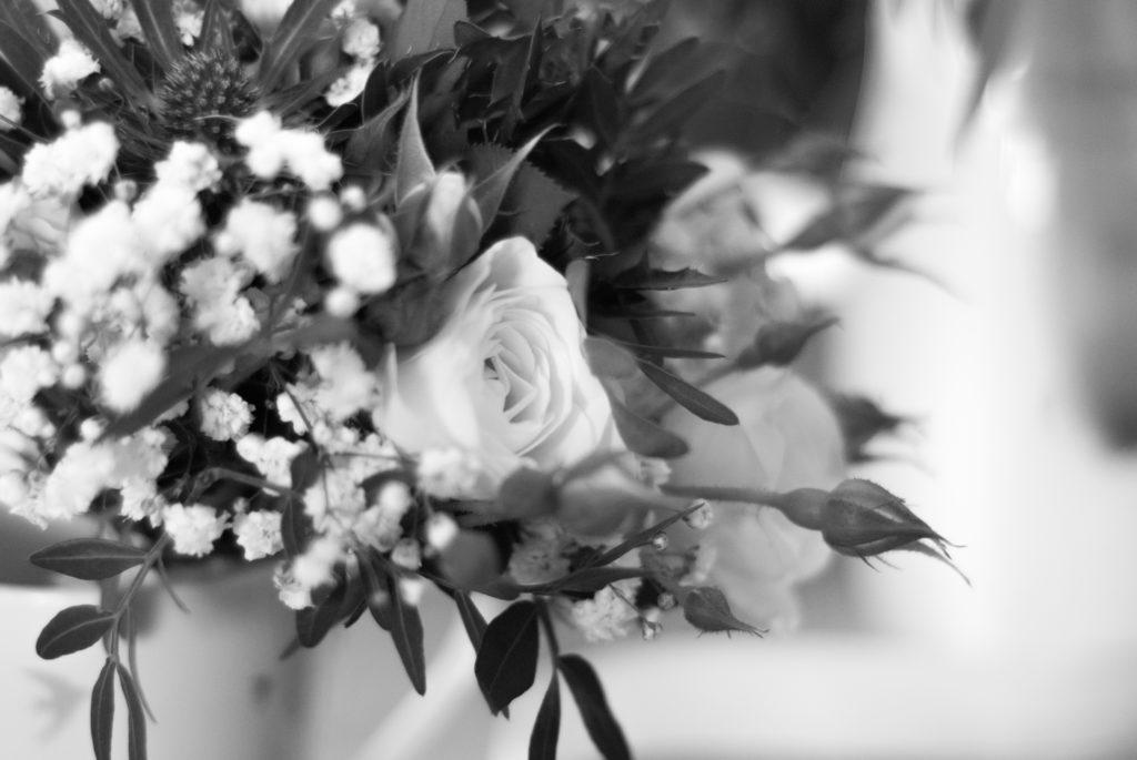 bouquet de mariée noir et blanc  fleur par nature montpellier