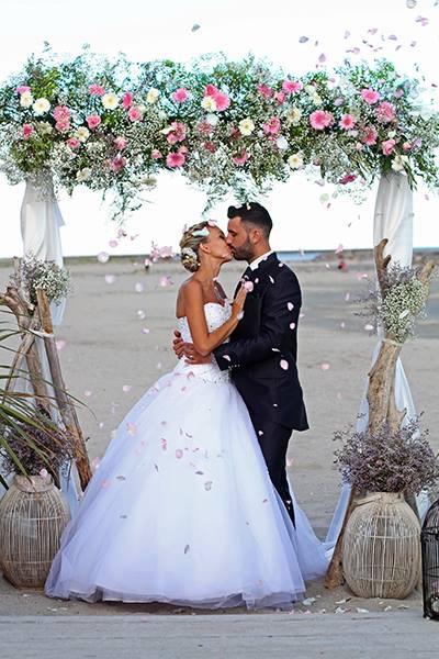 arche pastel et décoration mariage  fleur par nature montpellier