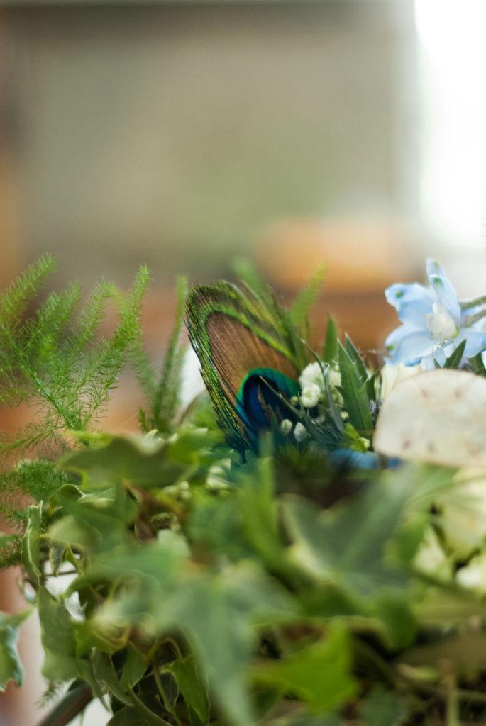 bouquet plume et bleu  fleur par nature montpellier