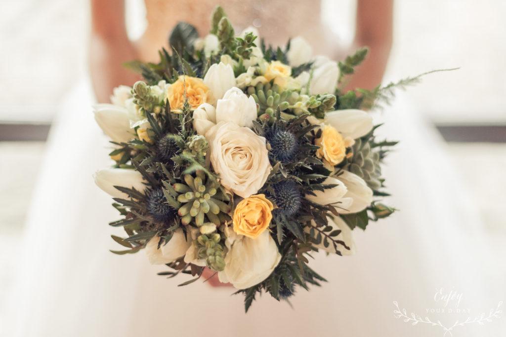 bouquet avec plante  fleur par nature montpellier