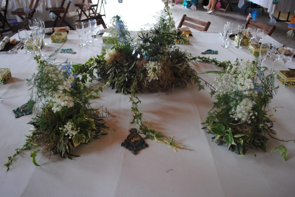 centre de table  fleur par nature montpellier pour mariage