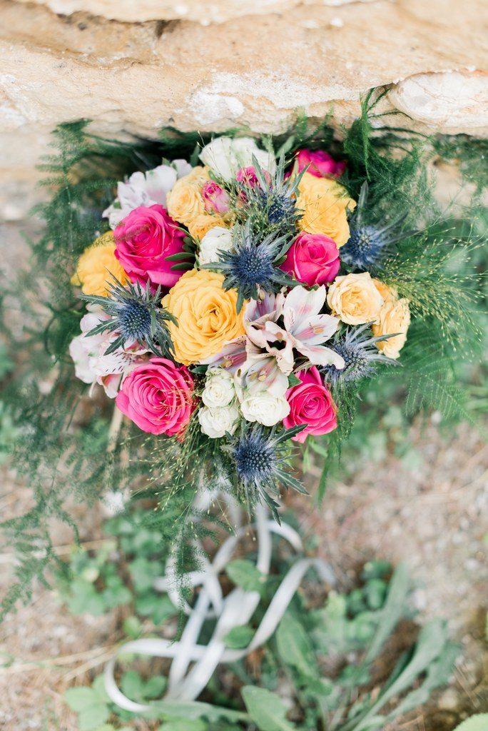 bouquet de mariée colorée  fleur par nature montpellier