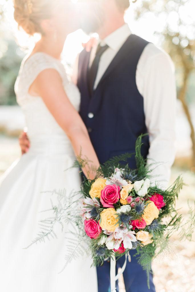 bouquet de mariée coloré  fleur par nature montpellier