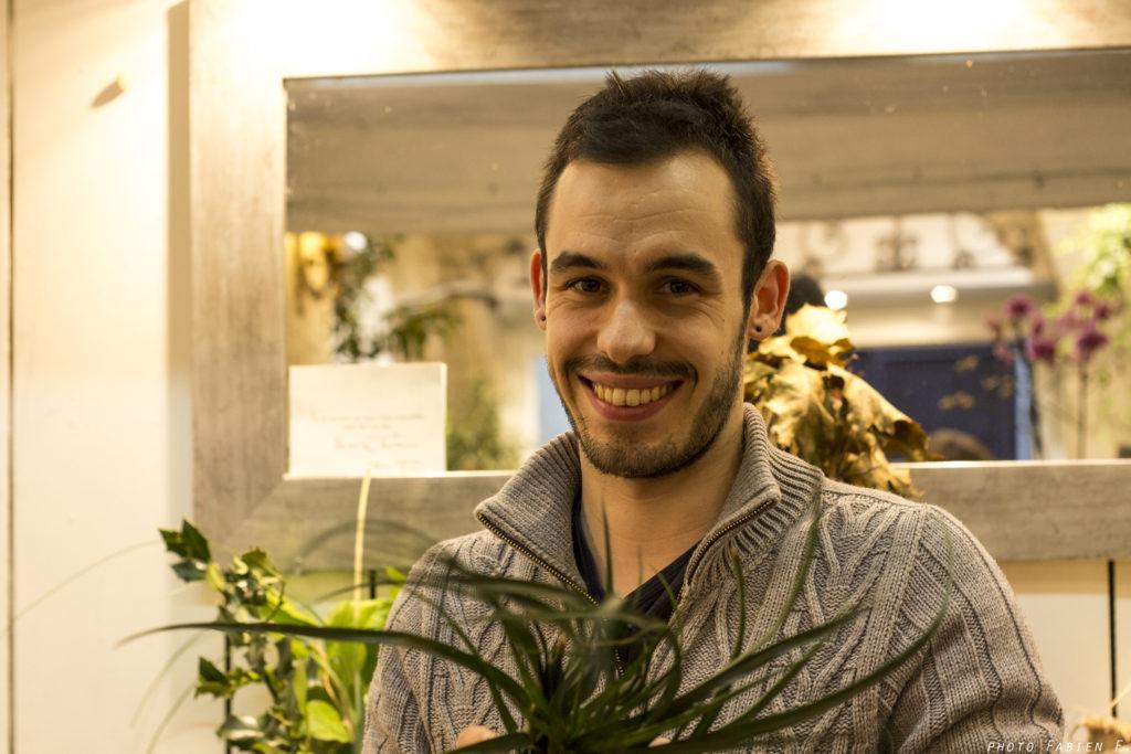 portrait Boutiques fleur benjamin jean fleuriste montpellier