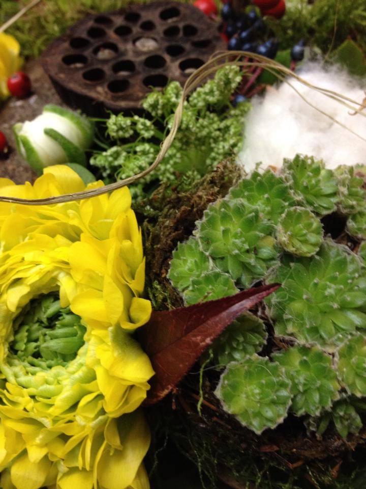 bouquet de fleur avec plante grasse Abonnement professionnel événementiel