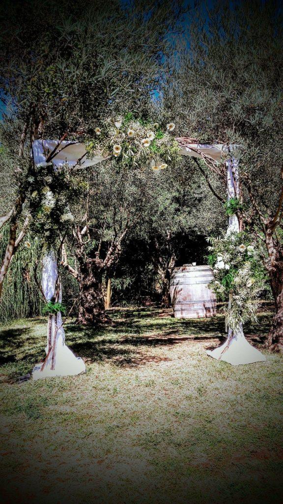 arche de mariage blanc et olivier  fleur par nature montpellier