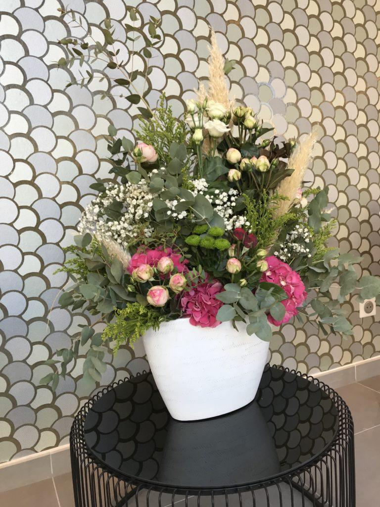 composition accueil Abonnement professionnel événementiel montpellier fleuriste
