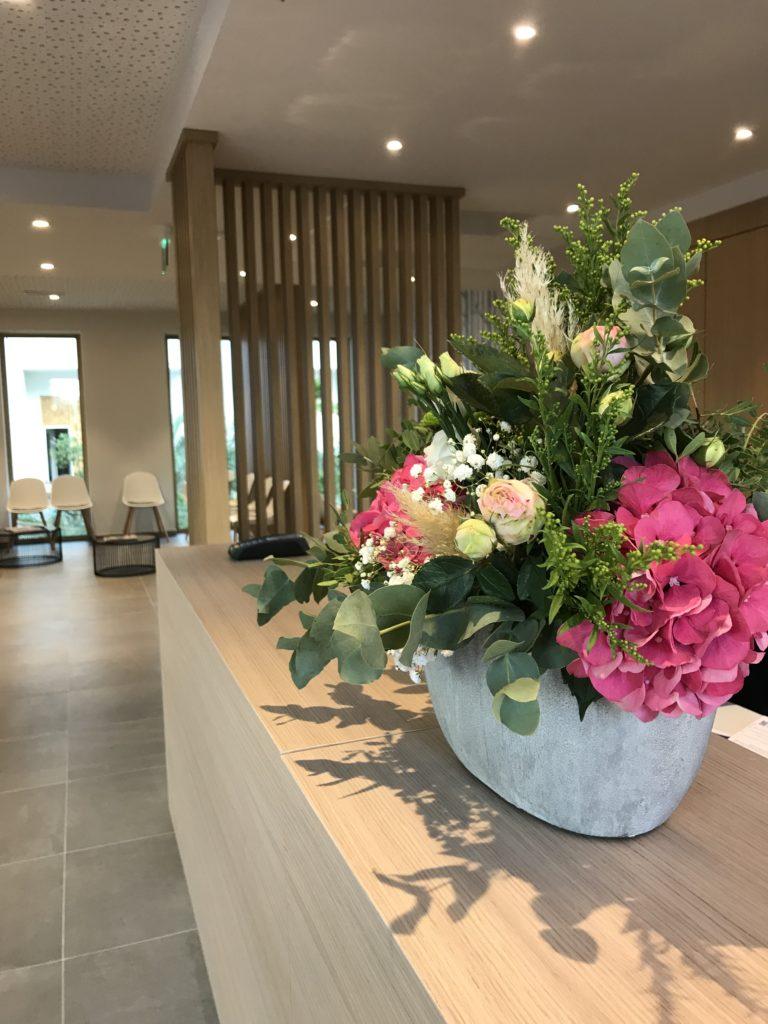 bouquet de fleurs accueil Abonnement professionnel événementiel montpellier fleuriste