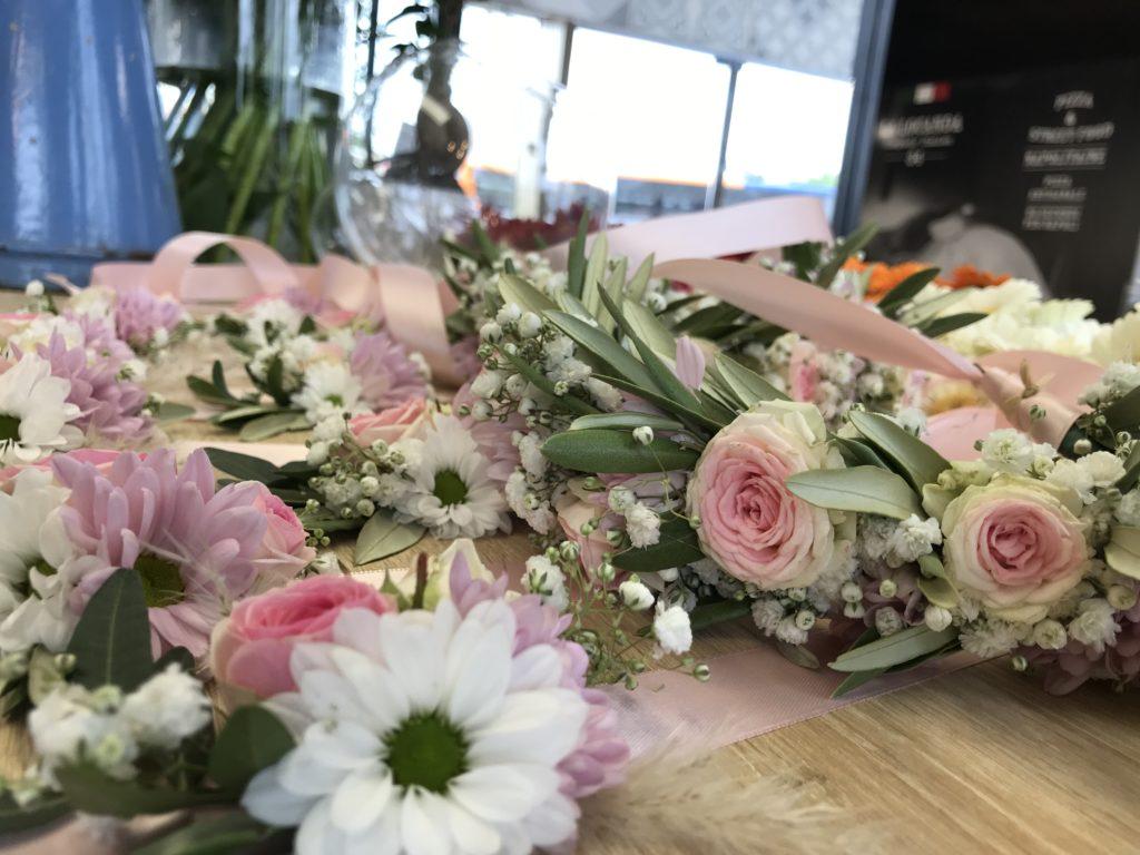 bracelet et couronne de mariage  fleur par nature montpellier